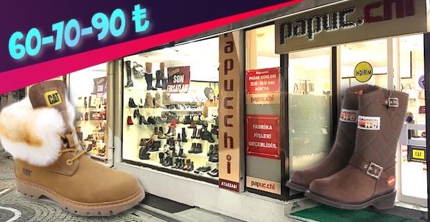 Fethiye Caddesi'ne indirim geldi:  Kışlık bot ve ayakkabılar: 60 ₺