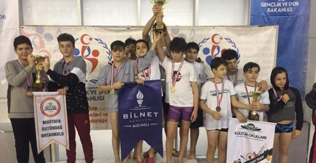 Yüzmede de şampiyon: BİLNET