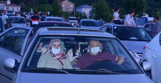 Arabada sinema keyfi, bu kez Kandıra'daydı