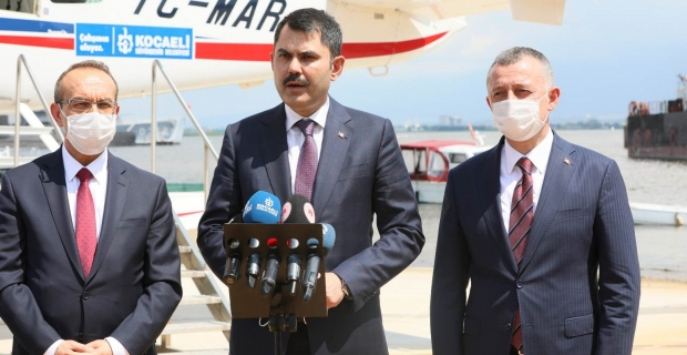 Bakan Kurum- ''Büyükşehir uçağı Marmara'yı denetleyecek''