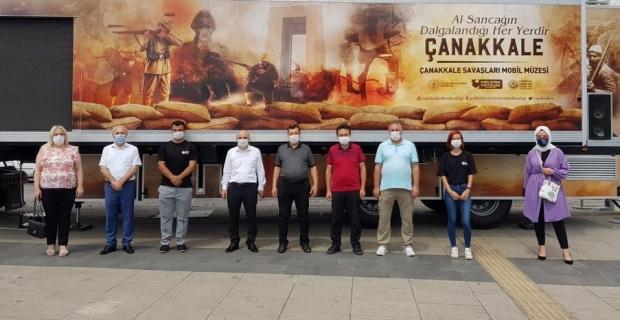 Çanakkale Savaşları Mobil Müze, 3 gün 3 ilçede ziyarete açıldı