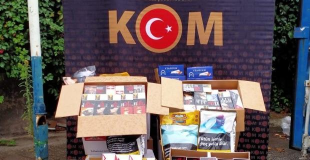 Körfez'de kaçak tütün operasyonu