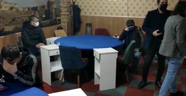 Oyun oynanan iş yerini polis bastı