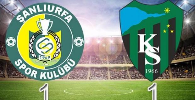 Şanlıurfaspor-Kocaelispor karşılaşması:  1-1