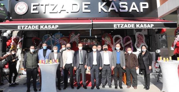 """Söğüt, Etzade Kasap'ın açılışında konuştu; """"Zor süreci esnafımızla birlikte atlatacağız"""""""