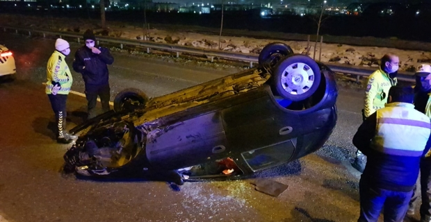 Başiskele'de korkutan kaza: 2 yaralı