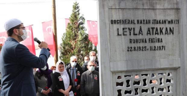 Leyla Atakan ve çalışma arkadaşları mezarları başında anıldı