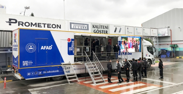 Prometeon Türkiye çalışanları AFAD'dan deprem ve afet eğitimi aldı
