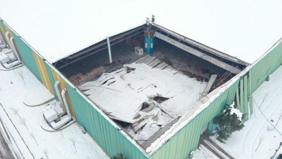 Uluslararası Fuar Merkezi'nin çatısı çöktü