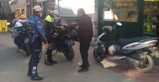 Yürüyüş Yolu'nu kullanan motosikletlilere  30 bin TL ceza