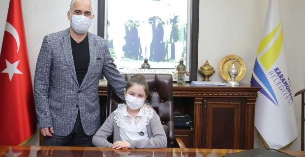 Karamürsel Belediyesi'nin minik başkanı; Ada Turan