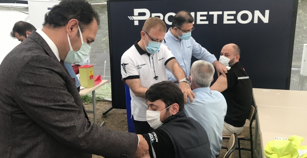 PROMETEON Türkiye'de, 800 çalışanın aşılanması yapıldı