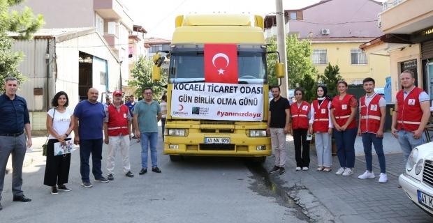 KOTO, yangın bölgelerine 4 yardım tırı gönderdi:  Gün birlik olma günü
