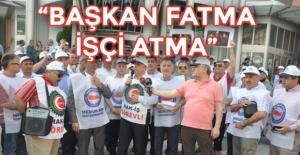 Yıllar sonra İzmit Belediyesi önünde eylem