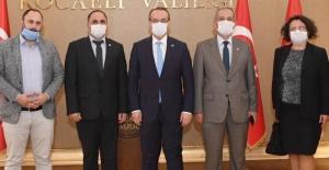 Başkan Karaca tesis projesine destek istedi TGF'den Kocaeli Valisi Seddar Yavuz'a ziyaret