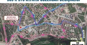 Gebze'de 565 ve 570 numaralı hatların güzergahı değişti