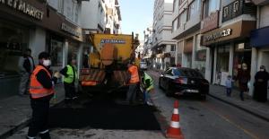 Karamürsel'de Yol Onarım Çalışmaları