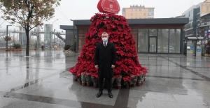Pişmaniyeciler meydanına 182 Atatürk Çiçeği