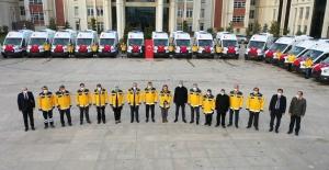 İl Sağlık Müdürlüğü bünyesine 30 yeni ambulans