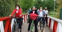 Anne Şehir, temiz çevre ve sağlıklı yaşam için pedal çevirdi